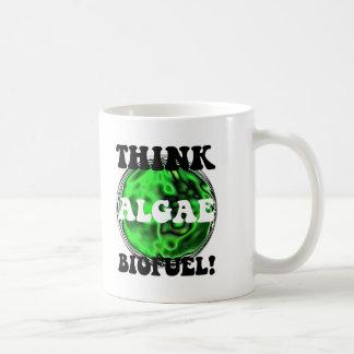 ¡Piense el combustible biológico de las algas! Taza