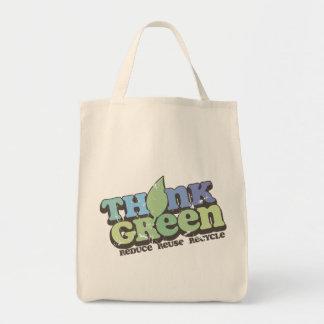 Piense el Día de la Tierra verde Bolsa