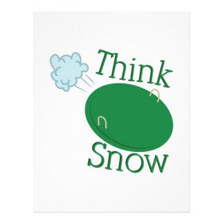 Piense el disco de la nieve membrete