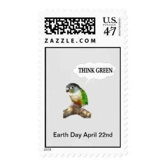 Piense el franqueo verde de Conure Sellos