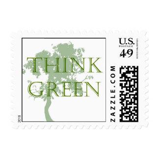 Piense el franqueo verde del árbol