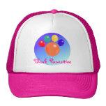 Piense el gorra del ramo del globo de Pawsitive_Pa
