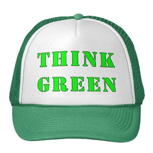 Piense el gorra verde