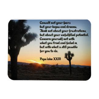 Piense el imán positivo de la cita