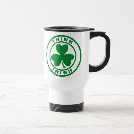 Piense el irlandés taza de café