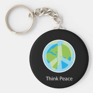 Piense el llavero de la paz