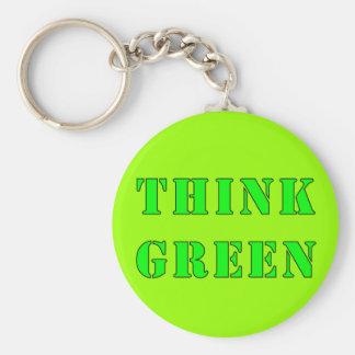Piense el llavero verde