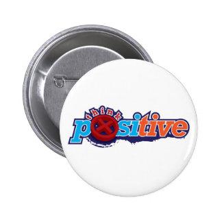Piense el llavero y el botón positivos pins
