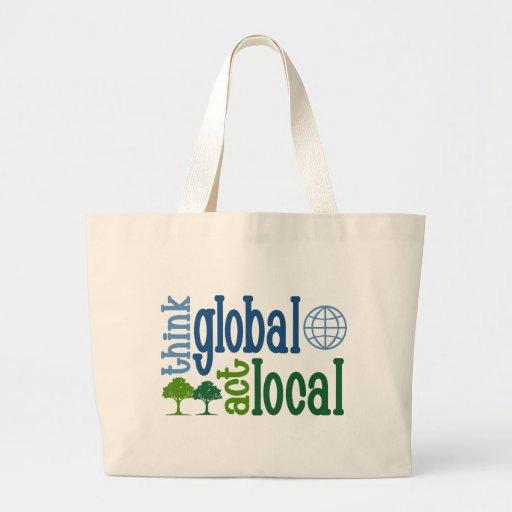 Piense el Local global del acto Bolsa Tela Grande