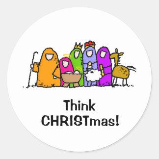 ¡Piense el navidad Etiqueta