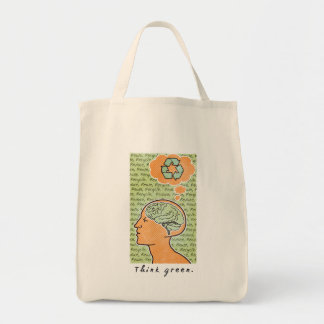 Piense el poder mental verde bolsa