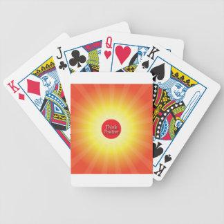 Piense el positivo barajas de cartas