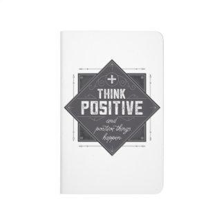 Piense el positivo cuadernos grapados
