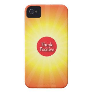 Piense el positivo iPhone 4 Case-Mate cárcasa