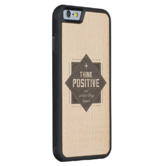 Piense el positivo funda de iPhone 6 bumper arce
