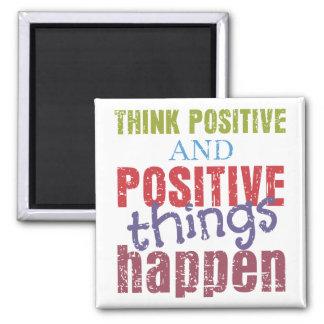 Piense el positivo imán de frigorifico