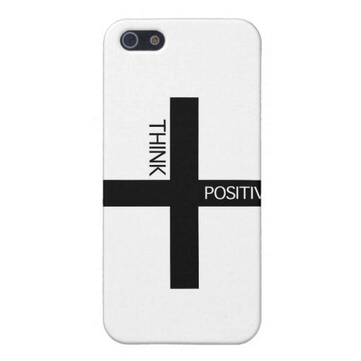 Piense el positivo iPhone 5 coberturas