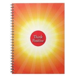 Piense el positivo cuadernos