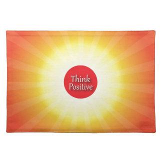 Piense el positivo mantel individual
