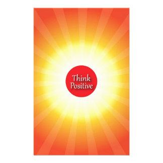 Piense el positivo papelería personalizada