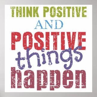 Piense el positivo póster