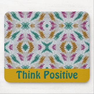 Piense el positivo tapetes de ratones