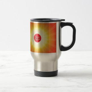 Piense el positivo taza de café