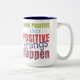 Piense el positivo tazas
