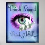 Piense el poster 2012 de la representación visual