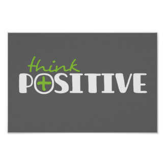 Piense el poster cuadrado gráfico positivo