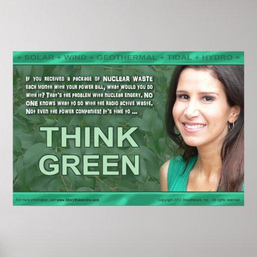 Piense el poster verde (pequeño)