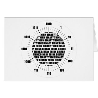 Piense el reloj binario (el humor del friki) tarjetas