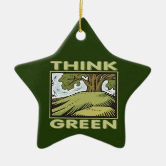 Piense el roble verde ornamentos de reyes