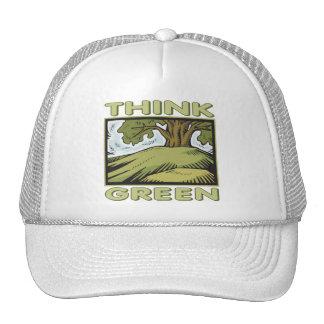 Piense el roble verde gorras de camionero