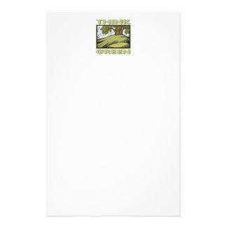 Piense el roble verde  papeleria
