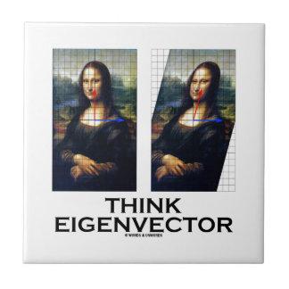 Piense el vector propio (Mona Lisa restaurada) Teja Ceramica