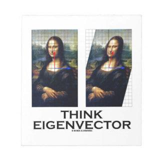 Piense el vector propio (Mona Lisa restaurada) Libreta Para Notas