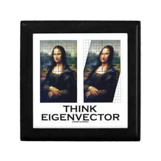 Piense el vector propio (Mona Lisa restaurada) Cajas De Joyas
