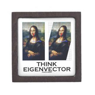 Piense el vector propio (Mona Lisa restaurada) Cajas De Regalo De Calidad