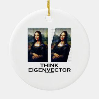 Piense el vector propio (Mona Lisa restaurada) Ornamento Para Arbol De Navidad