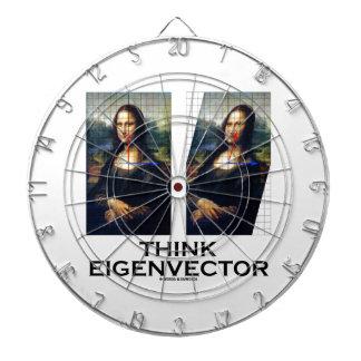 Piense el vector propio (Mona Lisa restaurada) Tablero Dardos