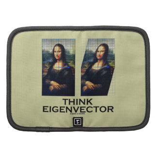 Piense el vector propio (Mona Lisa restaurada) Organizadores