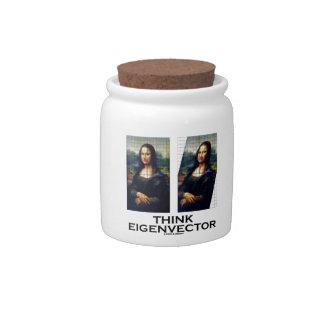 Piense el vector propio (Mona Lisa restaurada) Jarras Para Caramelos