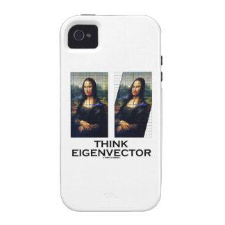 Piense el vector propio (Mona Lisa restaurada) Vibe iPhone 4 Carcasas