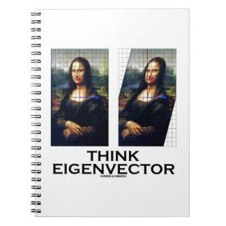 Piense el vector propio Mona Lisa restaurada Libreta Espiral