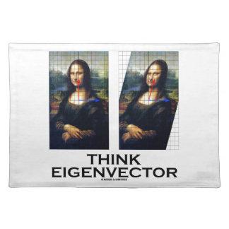 Piense el vector propio (Mona Lisa restaurada) Mantel