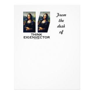 Piense el vector propio (Mona Lisa restaurada) Membrete Personalizado