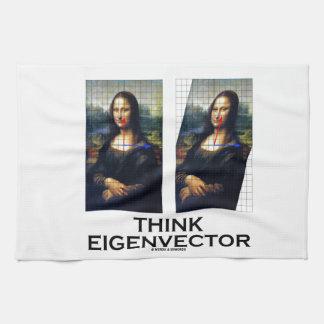 Piense el vector propio (Mona Lisa restaurada) Toalla De Mano
