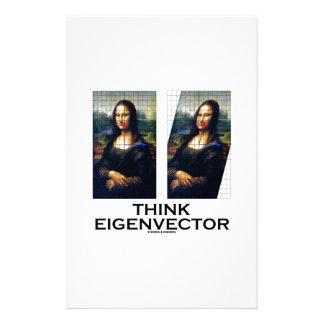 Piense el vector propio (Mona Lisa restaurada) Papelería