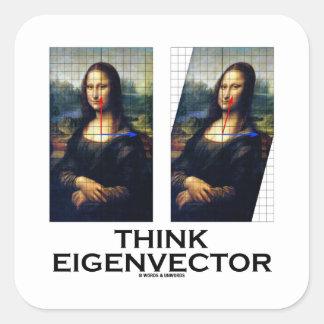 Piense el vector propio (Mona Lisa restaurada) Colcomanias Cuadradas Personalizadas
